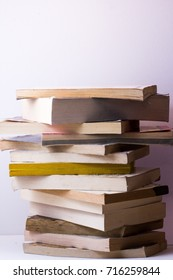 Book Pile Isolated