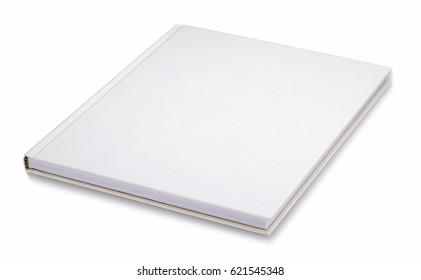 Book, plain white book on the desk