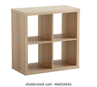 Book rack isolated on white background. Include clipping path