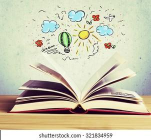 Book reading.