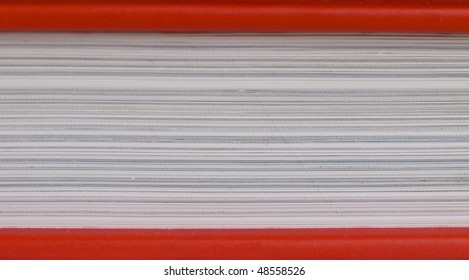 book with red covers, closeup