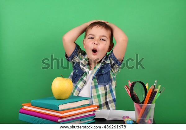 Book School Kid School Boy Classroom Stock Photo (Edit Now