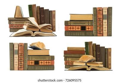 Book shelf isolated on white background