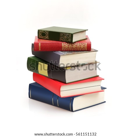 book stack on white background stock photo edit now 561151132