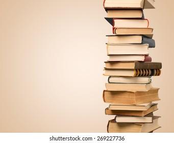 Book, Stack, Textbook.