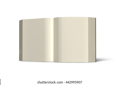 Book standing and opening isolated in white background , 3D rendering
