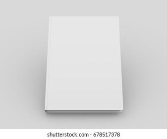 Book template. 3D rendering