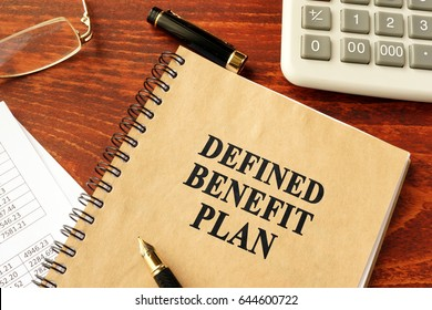 Book with title Defined Benefit Plan.