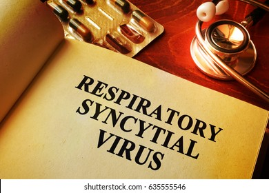 Book with title Respiratory syncytial virus RSV.