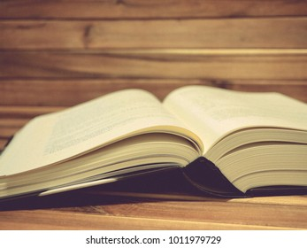 Book, wood, light