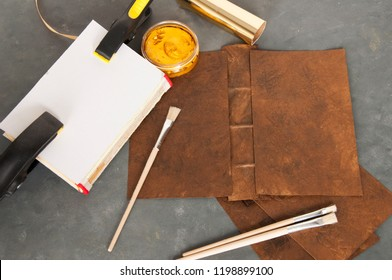 bookbinding set with a gilding set