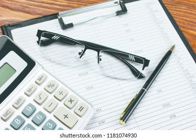 Bookkeeping. Financial report