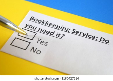 Bookkeeping service: Do you need it? yes or no