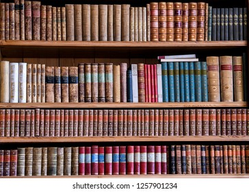 Books in the cabinet on the shelves in office in Berlin, Germany. 29-11-2018