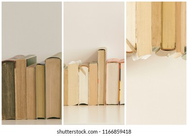 books close-up, with copy-space