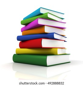books concept  3d illustration