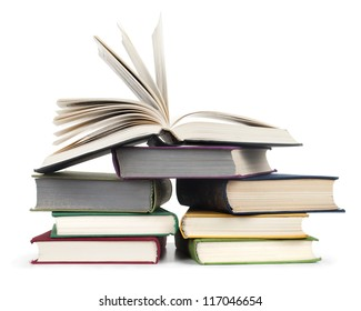 Books isolated on a white background.