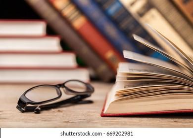 Books on books background.