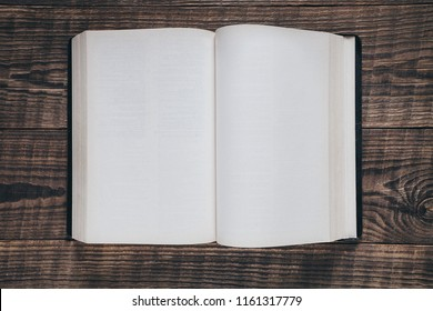 books on the background of wood
