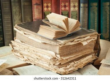 Books on the bookshelf