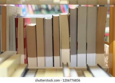 Books on the shelf in library