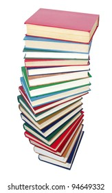 books on the white background
