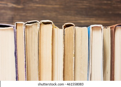 Books On The Wooden Background