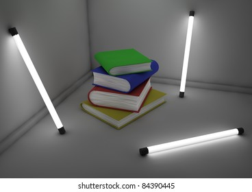 books in a room