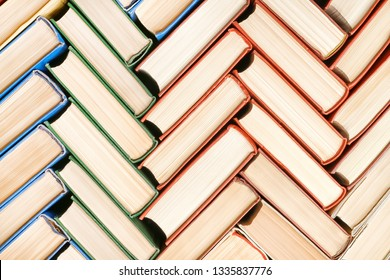 Books stack texture and background