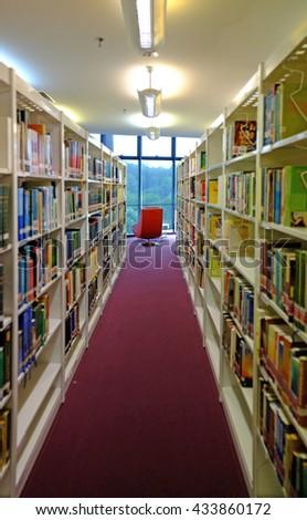 Bookshelves Full Books Stock Photo Edit Now 433860172 Shutterstock