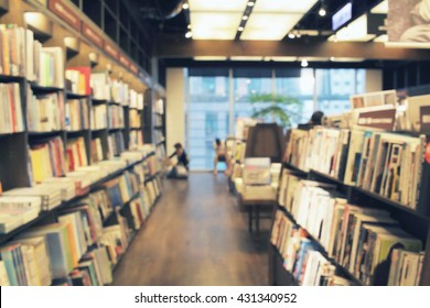 bookstore de focused abstract background