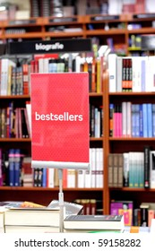 Bookstore and special place with bestsellers books