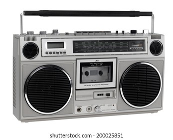 Boom box isolated on white
