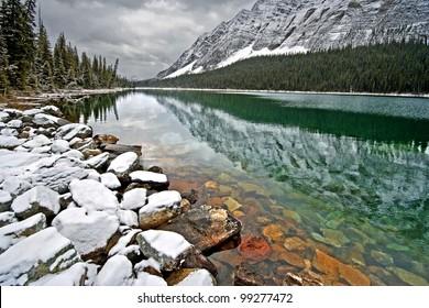 Boom Lake, Banff National Park, Alberta, Canada 1-1/4 Hour easy Hike - one way.