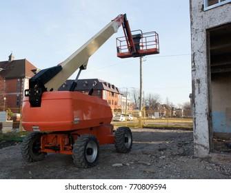 Boom Lift Construction Site