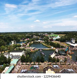 Boom/Brussels/Belgium - July 27, 2018: view from the top of Tomorrowland festival 2018