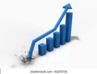 Booming business bar graph