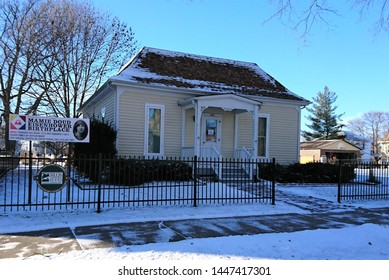 Boone, Iowa - December 19, 2016: Mamie Doud Eisenhower's birthplace
