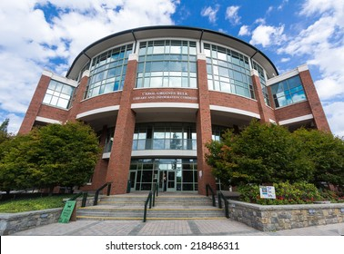 BOONE, NC, USA - SEPTEMBER 18: Carol Grotnes Belk Library and Information Commons, built in 2005, at Appalachian State University on September 18, 2014 in Boone, NC, USA