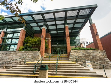 BOONE, NC, USA - SEPTEMBER 18: Plemmons Student Union, originally built in 1967, at Appalachian State University on September 18, 2014 in Boone, NC, USA