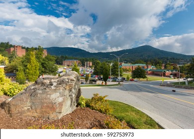 BOONE,  NC, USA - SEPTEMBER 18: Appalachian State University campus on September 18, 2014 in Boone, North Carolina.