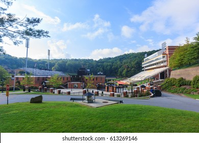 BOONE, NC, USA - SEPTEMBER 18:Kidd Brewer Stadium on September 18, 2014 at Appalachian State University in Boone, North Carolina.