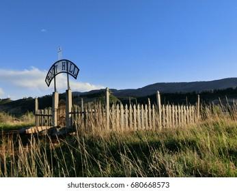 Boot Hill cemetery in Masonville, Colorado