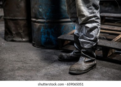 boot for work with machine in industy and for work with steel