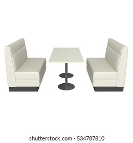 booth banquette, 3d rendering