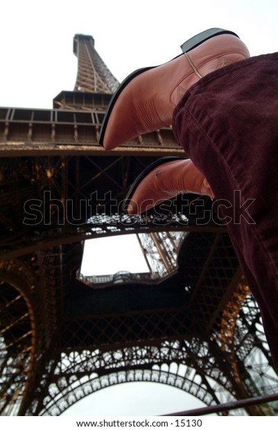 Boots at the Eiffel Tower