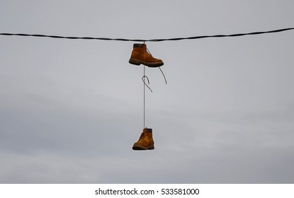 Boots on the wires.