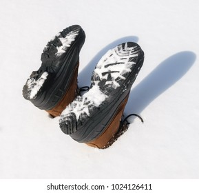 Boots in the snow-Outdoor photography-Conceptual