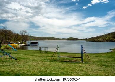 Bor Lake (Borsko jezero), an artificial lake in eastern Serbia near the city of Bor - Shutterstock ID 1972600274