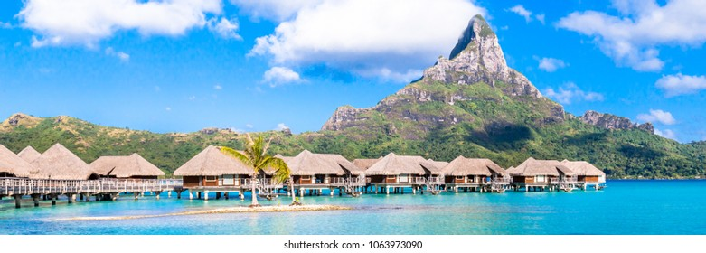 Bora Bora Island, French Polynesia. Abstract nature background.
